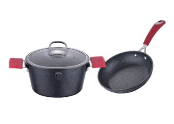 Набор посуды Berlinger Haus Black Stone Touch Line BH-1178