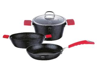 Набор посуды Berlinger Haus Black Stone Touch Line BH-1179
