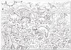 """Набор раскрасок гигантов  """"Эра динозавров"""" + """"Солнечная система"""", фото 4"""
