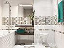 Кафель | Плитка настенная 20х44 Альрами | Alrami серый рельеф, фото 3