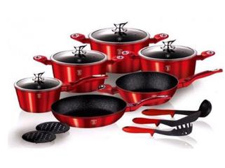 Набор посуды Berlinger Haus Burgundy Metallic Line 15 предметов BH-1226N