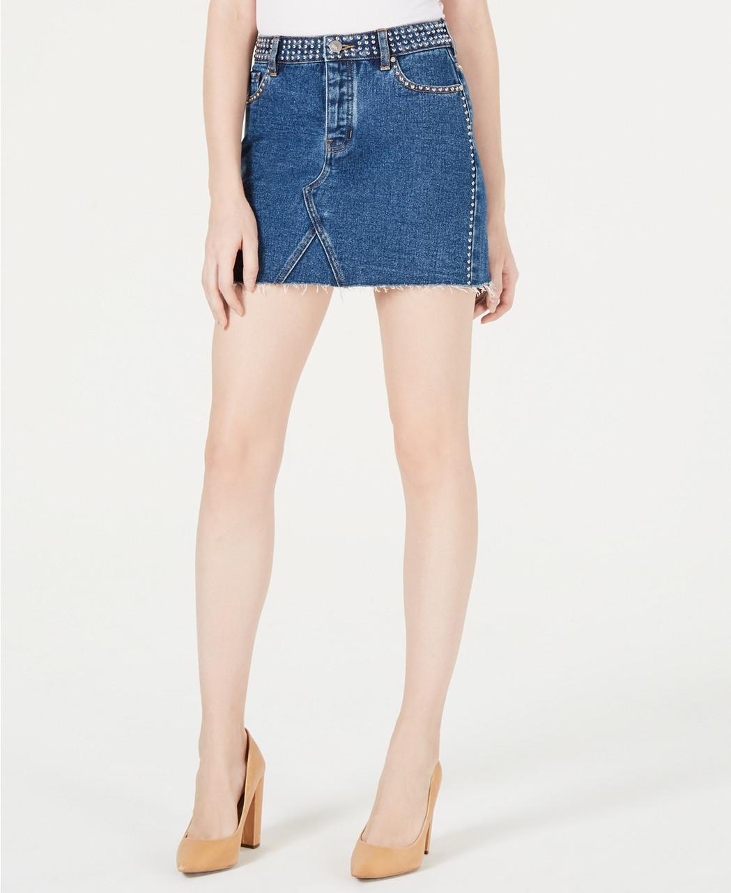 Kendall + Kylie Женская джинсовая юбка - Е2