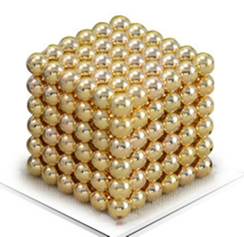 Neocube - магнитный Неокуб Золотой. 216 шариков. Диаметр 6 мм. Головоломка. Конструктор. Антистресс.