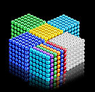 Neocube - магнитный Неокуб Серебряный. 216 шариков. Диаметр 6 мм. Головоломка. Конструктор. Антистресс., фото 3