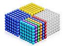 Neocube - магнитный Неокуб Серебряный. 216 шариков. Диаметр 6 мм. Головоломка. Конструктор. Антистресс., фото 4
