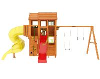 """IgraGrad """"Клубный домик 3 с трубой"""" с балконом, горкой-трубой, скалодромом, канатом., фото 1"""