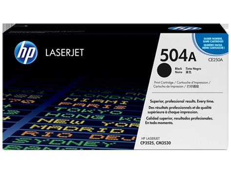 HP CE250A Картридж лазерный HP 504A черный, ресурс 5000 стр