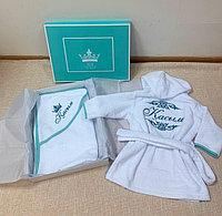 Полотенце уголок детское с вышивкой