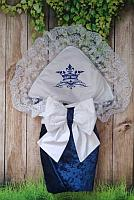 Одеяло конверт с вышивкой