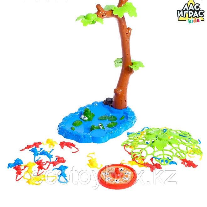 Настольная игра на ловкость «Мартышкин хвост»: рулетка, разноцветные мартышки - фото 3