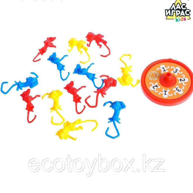 Настольная игра на ловкость «Мартышкин хвост»: рулетка, разноцветные мартышки - фото 6