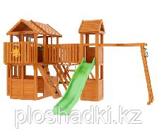 """IgraGrad """"Клубный домик Макси"""" с увеличительным домиком, волновой горкой, рукоходом."""