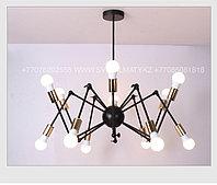 Loft Spider Black Gold люстра лофт паук черная с золотом на 12 ламп, фото 1