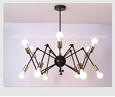 Loft Spider Black Gold люстра лофт паук черная с золотом на 12 ламп