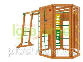 """IgraGrad """"WorkOut с рукоходом"""" с скалодромом, стеной альпиниста, веревочной лестницей."""