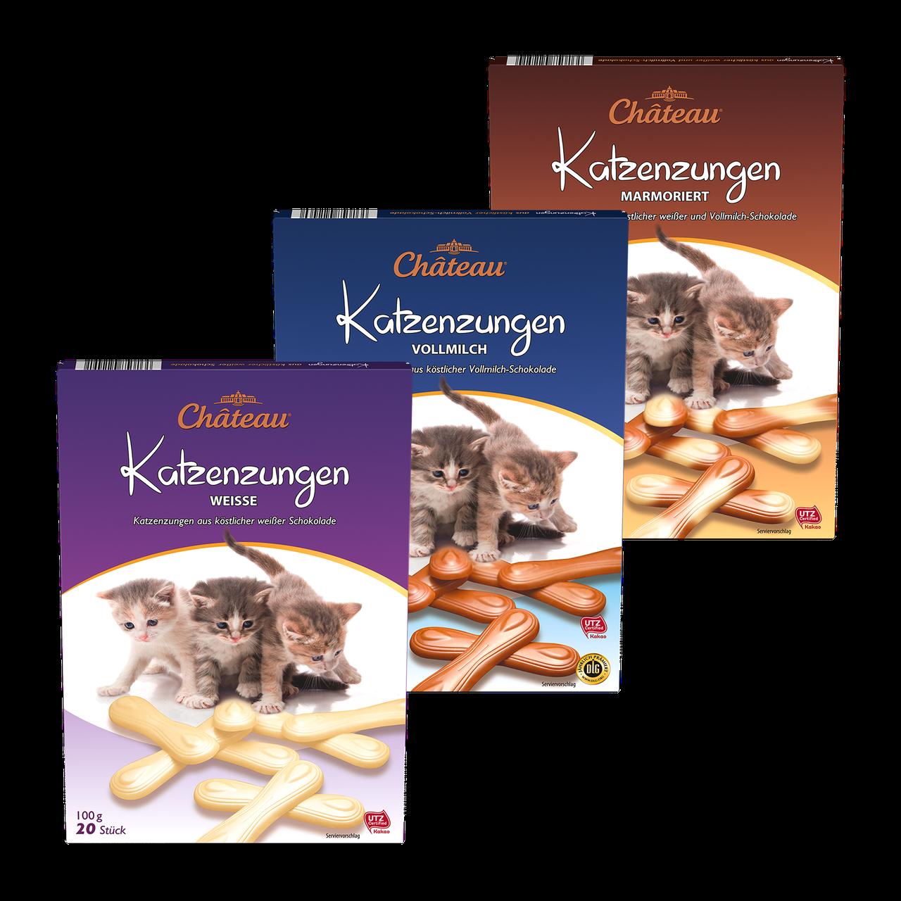 Молочный шоколад katzenzungen 100g