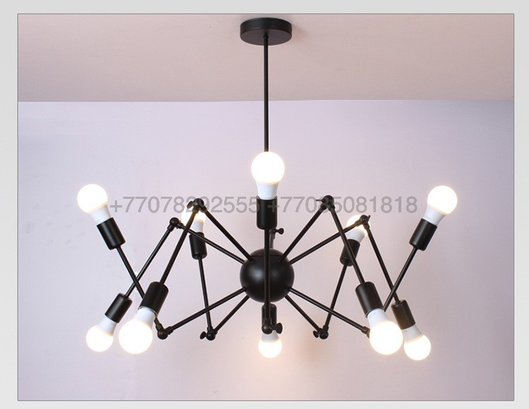 Loft Spider Black люстра лофт паук черная на 12 ламп