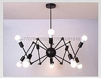 Loft Spider Black люстра лофт паук черная на 12 ламп, фото 1