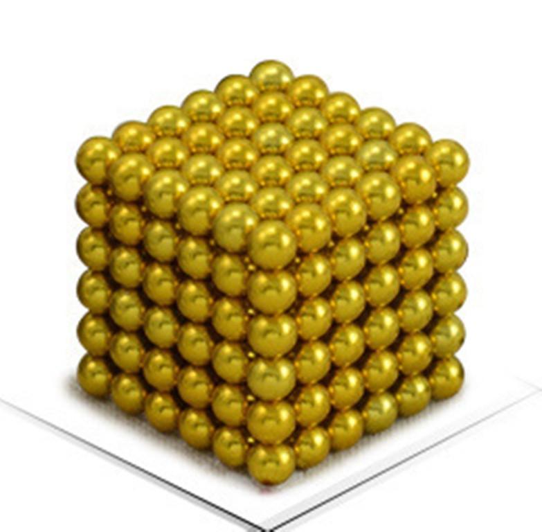 Neocube - магнитный Неокуб Желтый. 216 шариков. Диаметр 6 мм. Головоломка. Конструктор. Антистресс.