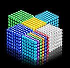 Neocube - магнитный Неокуб Серебристый. 216 шариков. Диаметр 6 мм. Головоломка. Конструктор. Антистресс., фото 3