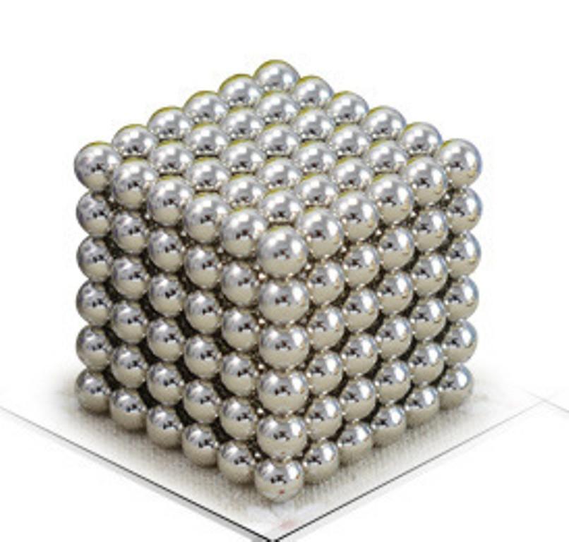 Neocube - магнитный Неокуб Серебристый. 216 шариков. Диаметр 6 мм. Головоломка. Конструктор. Антистресс.