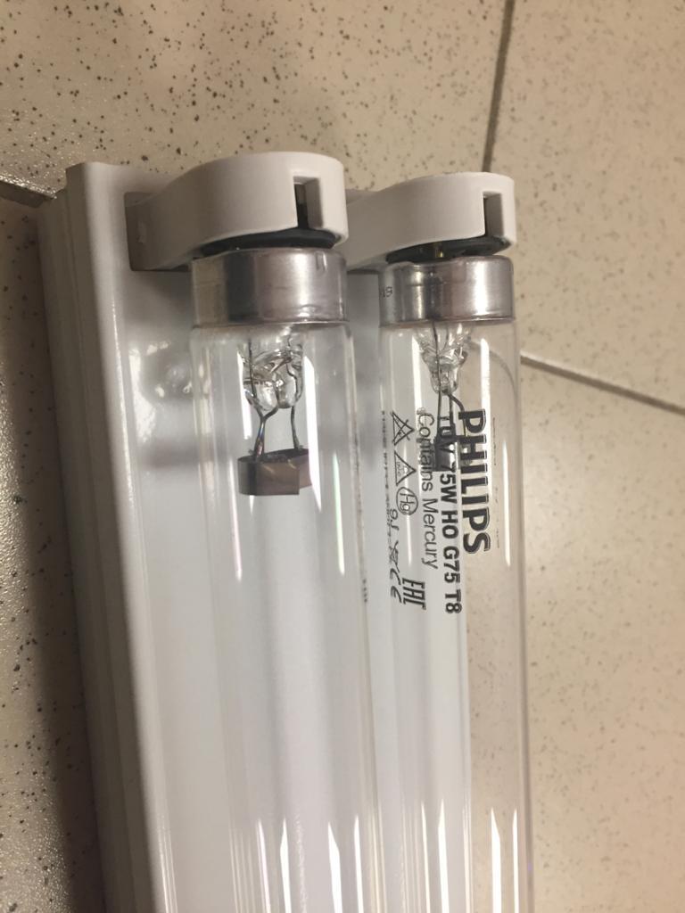 Облучатель бактерицидный настенно-потолочный 2х75 Ватт