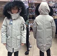 Стильные подростковые удлинённые куртки LEBO JUNIOR