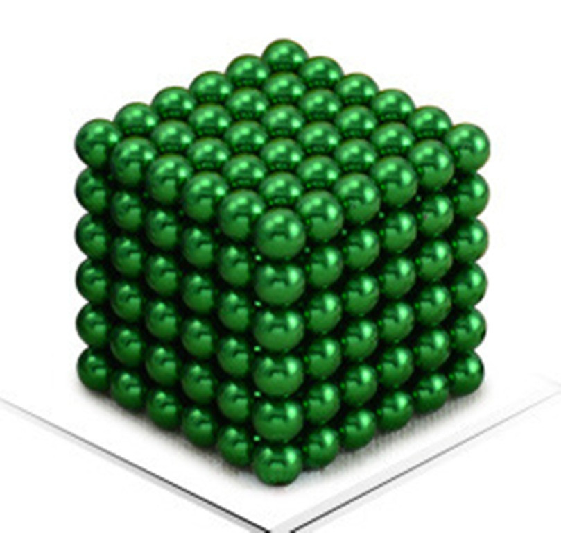 Neocube - магнитный Неокуб Зеленый. 216 шариков. Диаметр 6 мм. Головоломка. Конструктор. Антистресс.