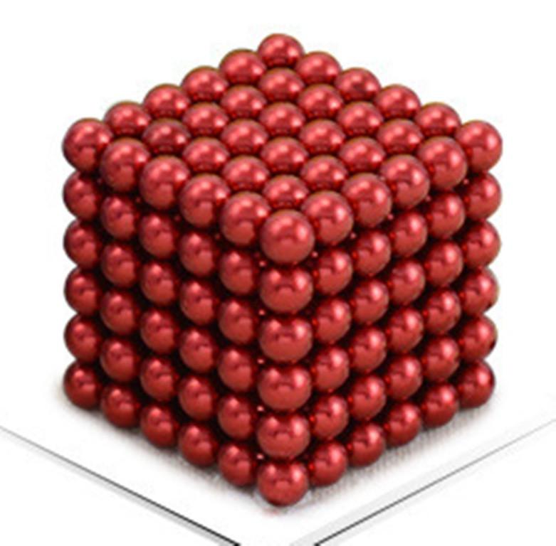 Neocube - магнитный Неокуб Красный. 216 шариков. Диаметр 6 мм. Головоломка. Конструктор. Антистресс.