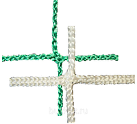 Сетка заградительная 100х100х3 белая/зеленая (мин 100м2)