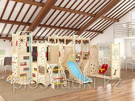"""""""IgraGrad 14"""" с игровым домиком, скалодромом, верёвочной лестницей."""