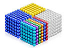 Neocube - магнитный Неокуб Оранжевый. 216 шариков. Диаметр 6 мм. Головоломка. Конструктор. Антистресс., фото 4