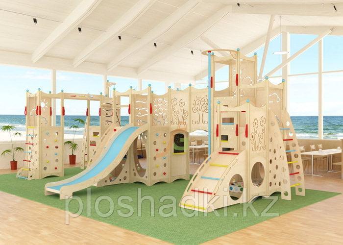 """""""IgraGrad 15"""" с скалодромом, веревочной лестницей и игровым домиком."""