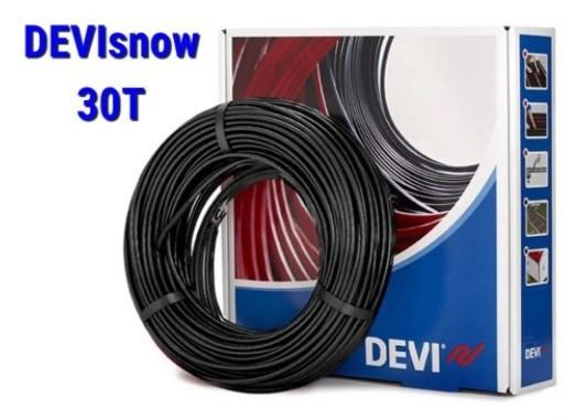 Двухжильный нагревательный кабель для наружных установок DEVIsnow™ 30T(30 Вт/м)(DEVIflex DTCE-30) размер 4,5м2