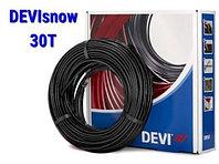 Двухжильный нагревательный кабель для наружных установок DEVIsnow 30T(30 Вт/м)(DEVIflex DTCE-30) размер 4м2