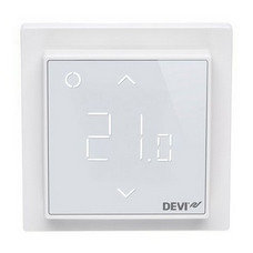 Программируемый терморегулятор DEVIreg™ Smart Pure White с Wi-Fi (цвет белый с рамкой)
