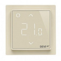 Программируемый терморегулятор DEVIreg Smart Ivory с Wi-Fi (цвет слоновая кость с рамкой)