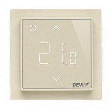 Программируемый терморегулятор DEVIreg™ Smart Ivory с Wi-Fi (цвет слоновая кость с рамкой)
