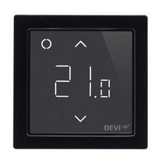 Программируемый терморегулятор DEVIreg™ Smart Black с Wi-Fi (цвет черный с рамкой)