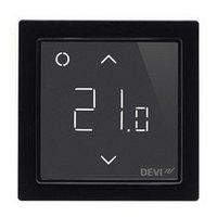 Программируемый терморегулятор DEVIreg Smart Black с Wi-Fi (цвет черный с рамкой)