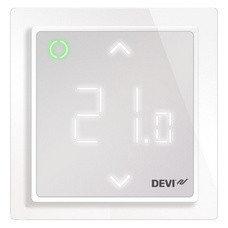 Программируемый терморегулятор DEVIreg™ Smart Polar с Wi-Fi (цвет полярной белизны с рамкой)
