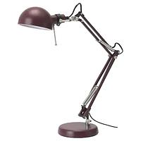Лампа рабочая ФОРСО темно-красный ИКЕА IKEA