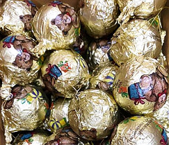 Шоколадные новогодние игрушки на Ёлку (Шарики Мишка) 1кг