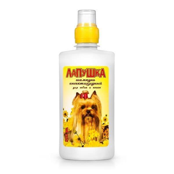 Лапушка, шампунь инсектицидный для собак и кошек - 220 мл