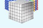 Магнитный Неокуб Серый. Neocube. 216 кубиков. Размер 5 мм. Головоломка. Конструктор. Антистресс., фото 4