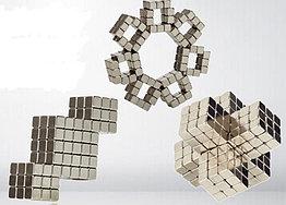 Магнитный Неокуб Серый. Neocube. 216 кубиков. Размер 5 мм. Головоломка. Конструктор. Антистресс.