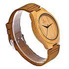 Натуральные Деревянные наручные часы. Гипоаллергенные. Кожаный ремешок. Рассрочка. Kaspi RED., фото 4