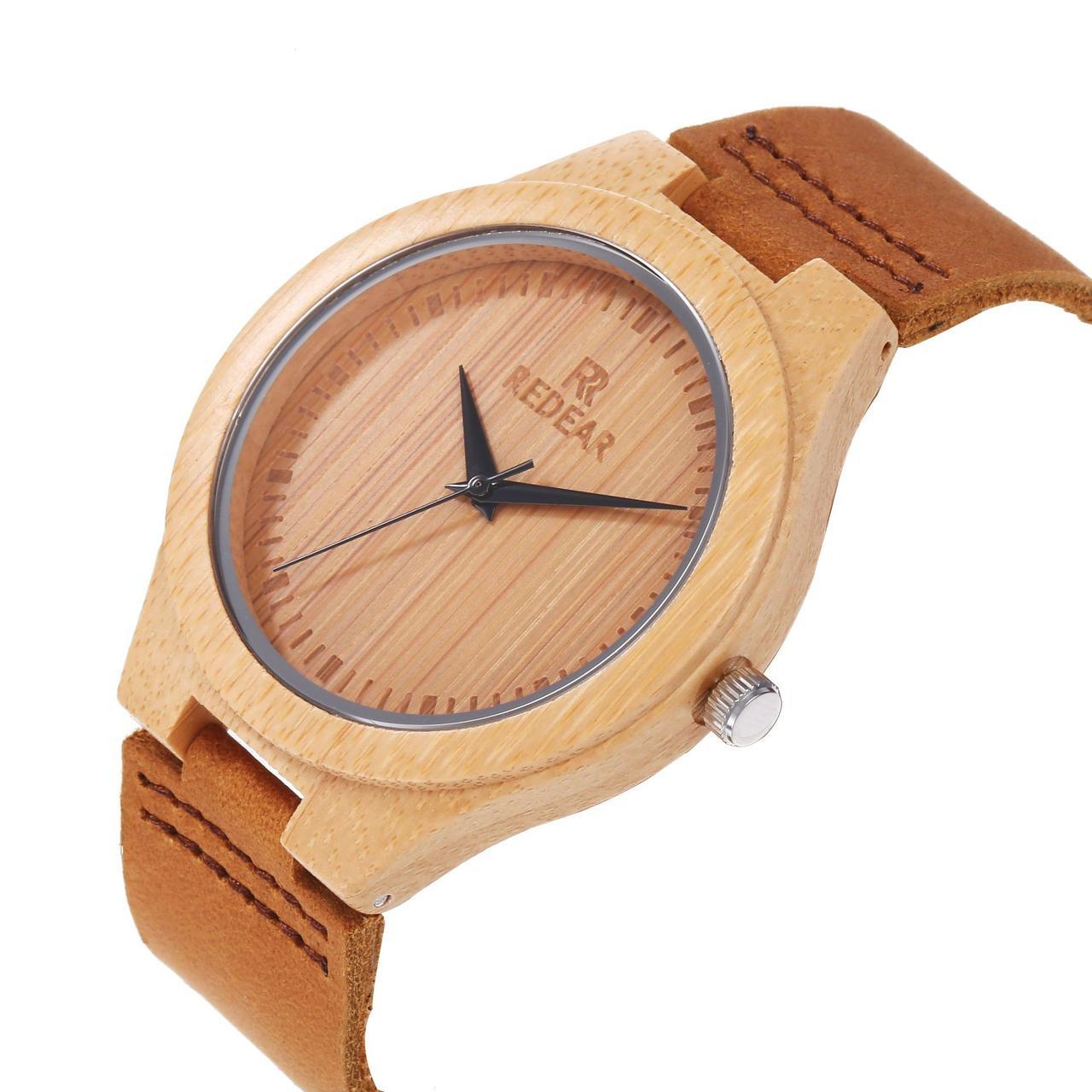 Деревянные наручные часы. Гипоаллергенны. Кожаный ремешок. Циферблат поменьше! Kaspi RED. Рассрочка.