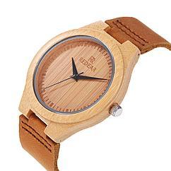 Деревянные наручные часы. Гипоаллергенны. Кожаный ремешок. Циферблат поменьше!