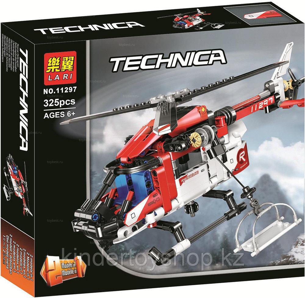 Конструктор LARI Technica Спасательный вертолет 11297 (Аналог LEGO Technic 42092) 325 дет